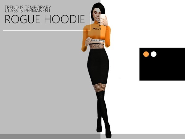 Sims 4 Cropped Hoodie by BaddieSims at TSR