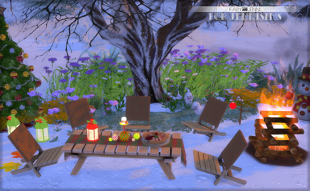 Set Christmas outside Faby (8items) at Jenni Sims image 3812 Sims 4 Updates