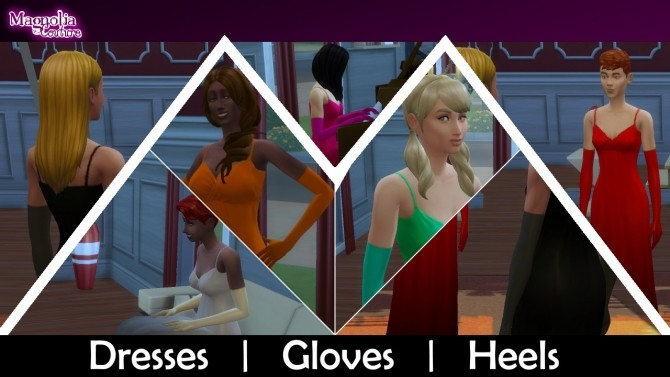 Jewel Colored Formal Dresses, Gloves and Heels by JPatchZ at Mod The Sims image 3820 670x377 Sims 4 Updates