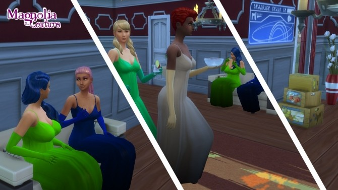 Jewel Colored Formal Dresses, Gloves and Heels by JPatchZ at Mod The Sims image 4019 670x377 Sims 4 Updates
