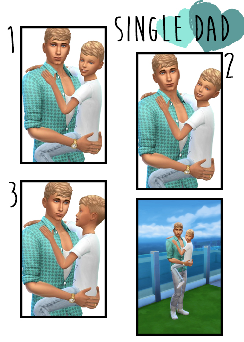 Single Dad 3 group poses at j e n n e h – SakuraLeon image 4020 Sims 4 Updates