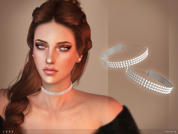 Luxe Choker by toksik at TSR image 4107 Sims 4 Updates