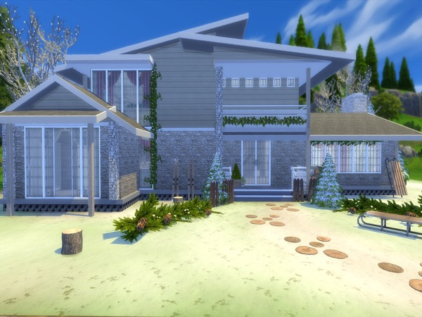 Christmas Living modern home by Suzz86 at TSR image 4111 Sims 4 Updates