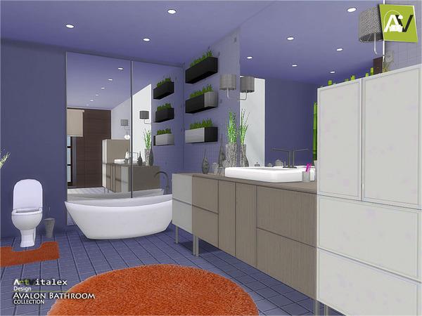 Avalon Bathroom by ArtVitalex at TSR image 4128 Sims 4 Updates