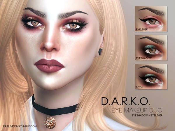 D.A.R.K.O. Eyemakeup Duo by Pralinesims at TSR image 4129 Sims 4 Updates