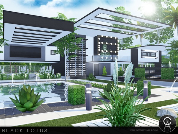 Black Lotus house by Pralinesims at TSR image 42 Sims 4 Updates