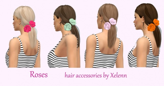 Roses with bun and without at Xelenn image 425 670x353 Sims 4 Updates