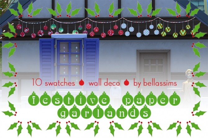Sims 4 Festive paper garlands at Bellassims