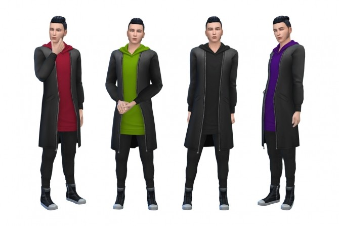 Sims 4 Mens City Living outfit recolors at Deeliteful Simmer