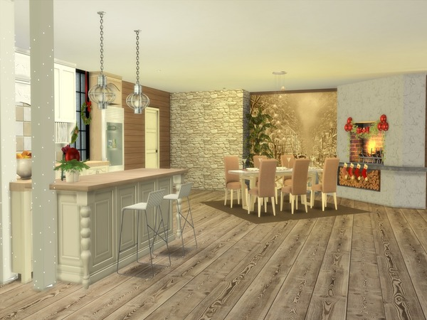Christmas Living modern home by Suzz86 at TSR image 4311 Sims 4 Updates
