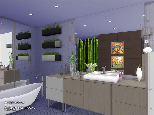 Avalon Bathroom by ArtVitalex at TSR image 4325 Sims 4 Updates