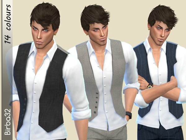 Sims 4 Classic Vest by Birba32 at TSR