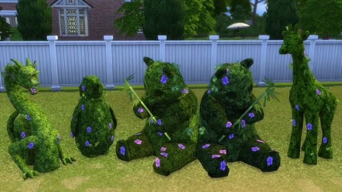 Sims 4 3 to 4 Topiaries by BigUglyHag at SimsWorkshop