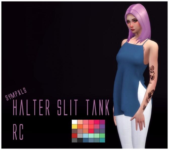 Sims 4 Halter Slit Tank RC by Sympxls at SimsWorkshop