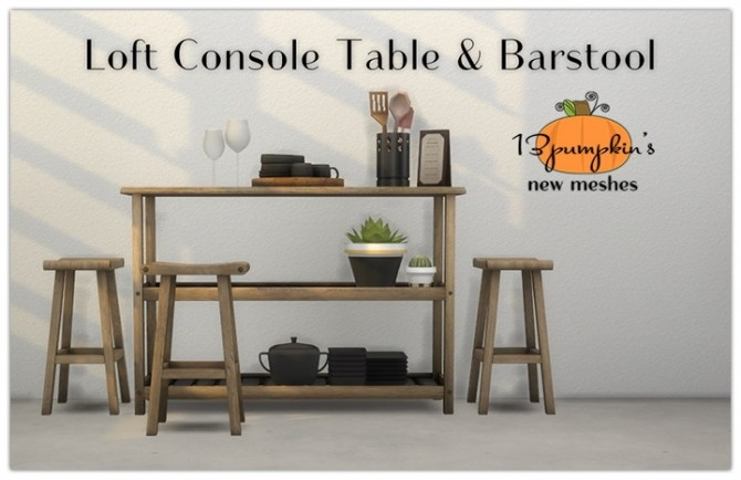 Enjoyable Loft Console Table Bar Stool Asian Dining Black Sofa Gmtry Best Dining Table And Chair Ideas Images Gmtryco