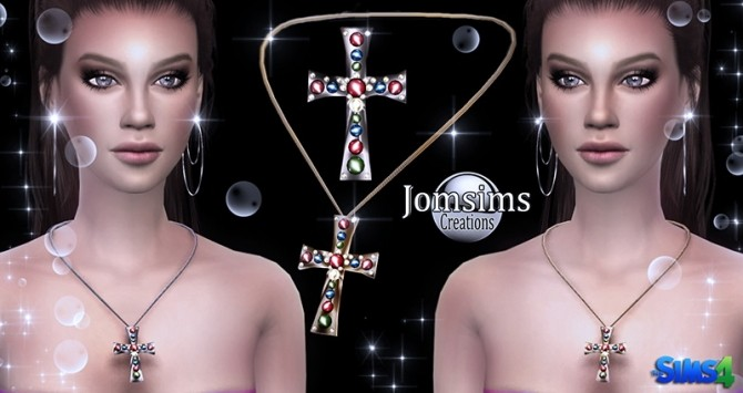 Arcas cross and diamond crystal ice goddess necklaces at Jomsims Creations image 4517 670x355 Sims 4 Updates