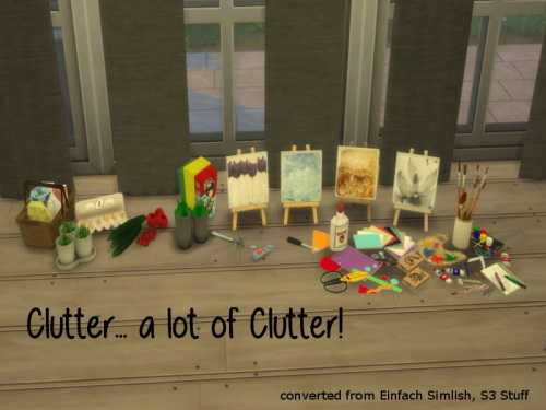 Einfach Simlish Clutter Set at ChiLLis Sims image 4521 Sims 4 Updates