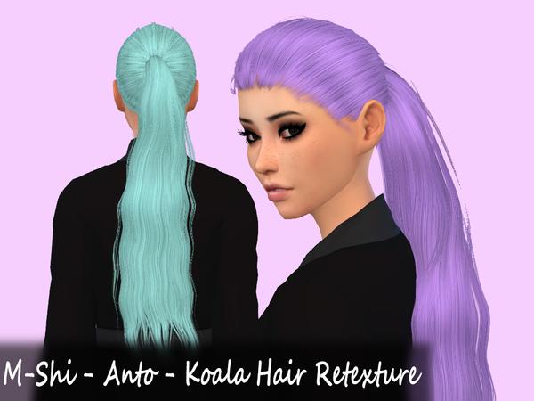Sims 4 M Shi Anto Koala Hair Retexture at TSR