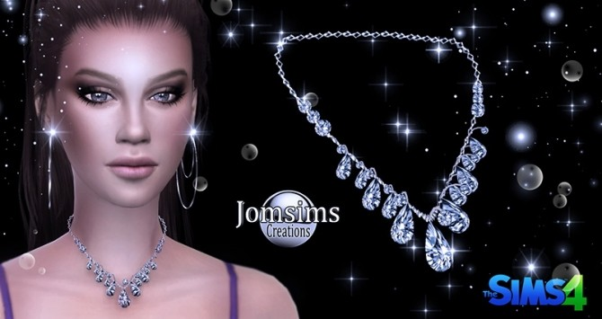 Arcas cross and diamond crystal ice goddess necklaces at Jomsims Creations image 4616 670x355 Sims 4 Updates