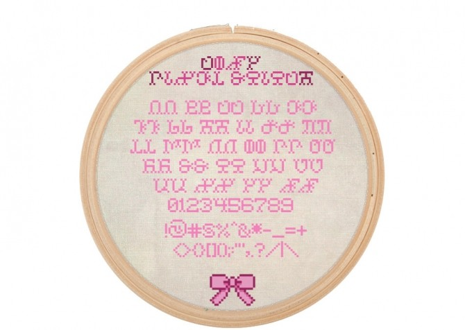 Needlework Simlish Fonts by Franzilla at Mod The Sims image 4618 670x476 Sims 4 Updates