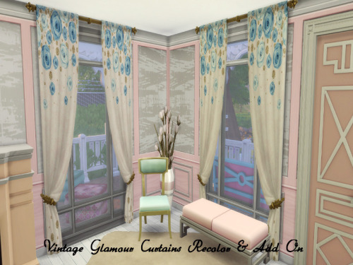 Vintage Glamour Curtains RC + Add On at ChiLLis Sims image 4620 Sims 4 Updates