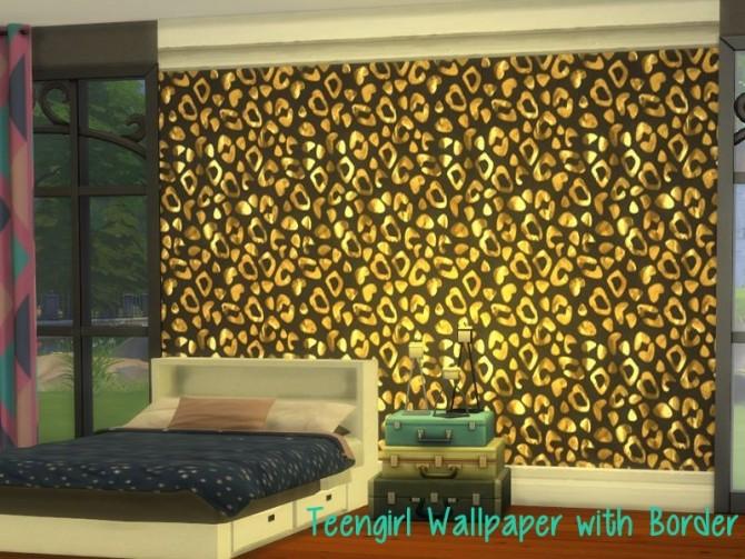 Sims 4 Teengirl Wallpaper (with border) at ChiLLis Sims