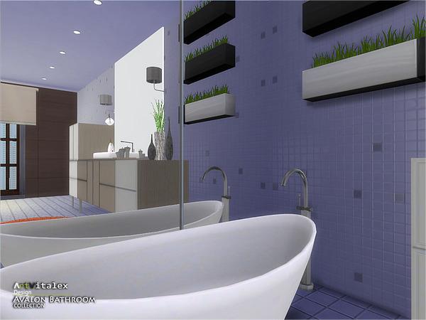 Sims 4 Avalon Bathroom by ArtVitalex at TSR