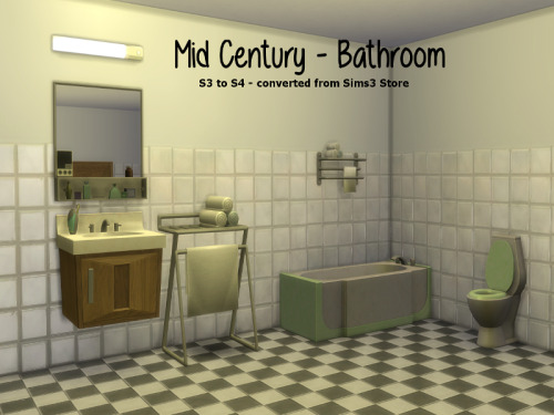 S3 to S4 Store Set Mid Century Bathroom at ChiLLis Sims image 4821 Sims 4 Updates