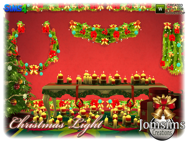 Christmas light set by jomsims at TSR image 4823 Sims 4 Updates