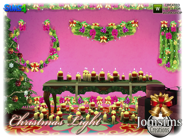 Christmas light set by jomsims at TSR image 4923 Sims 4 Updates