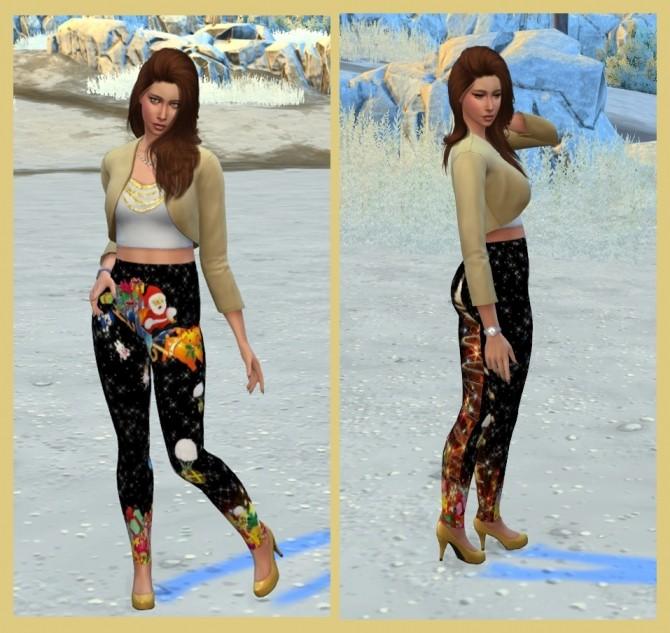 Christmas leggings at Louisa image 5014 670x633 Sims 4 Updates