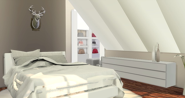 Modern Attic Bedroom at Caeley Sims image 5017 Sims 4 Updates