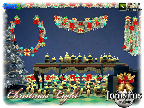 Christmas light set by jomsims at TSR image 5021 Sims 4 Updates