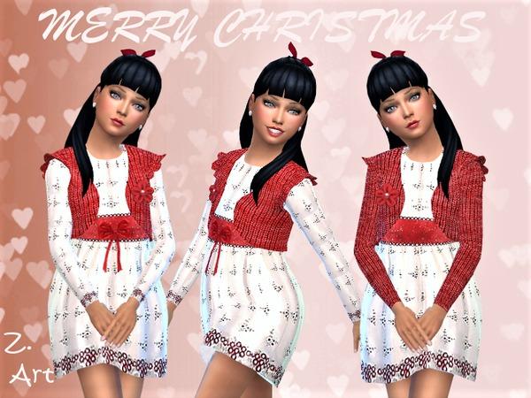 Sims 4 Winter CollectZ. XVI dress by Zuckerschnute20 at TSR