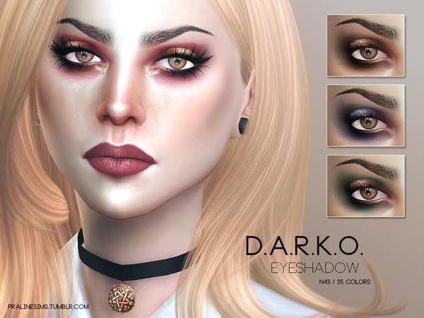 Sims 4 D.A.R.K.O. Eyemakeup Duo by Pralinesims at TSR