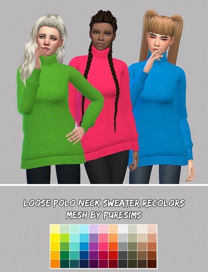 Sims 4 Sweater Recolors at Maimouth Sims4