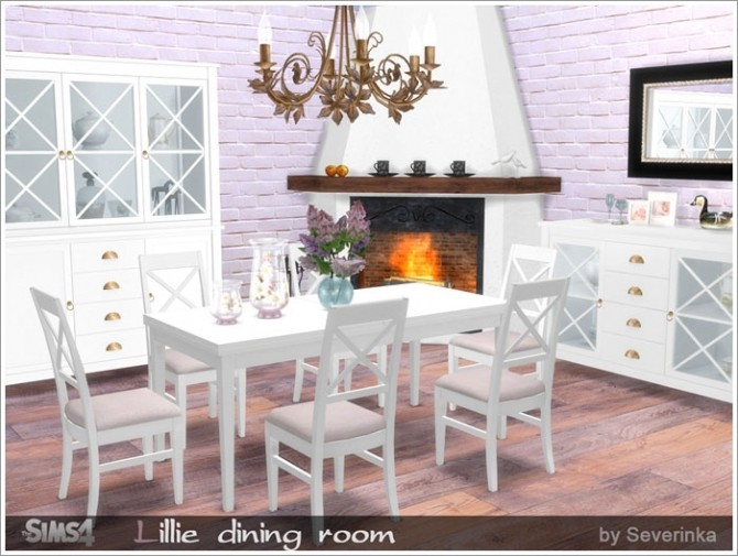 Lillie diningroom at sims by severinka sims 4 updates for Dining room ideas sims 4