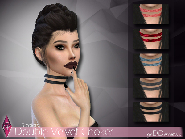 Velvet Chokers by ddcreations at TSR image 5119 Sims 4 Updates