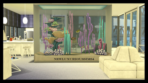 DINEOUT TALL & LONG AQUARIUM functional at NEW Luxurious Sims 4 image 5121 Sims 4 Updates