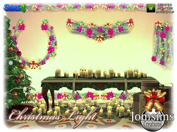 Christmas light set by jomsims at TSR image 5123 Sims 4 Updates