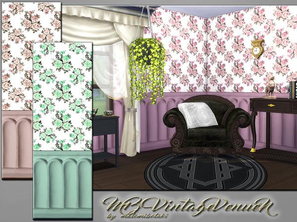 Sims 4 MB Vintage Venue N walls by matomibotaki at TSR