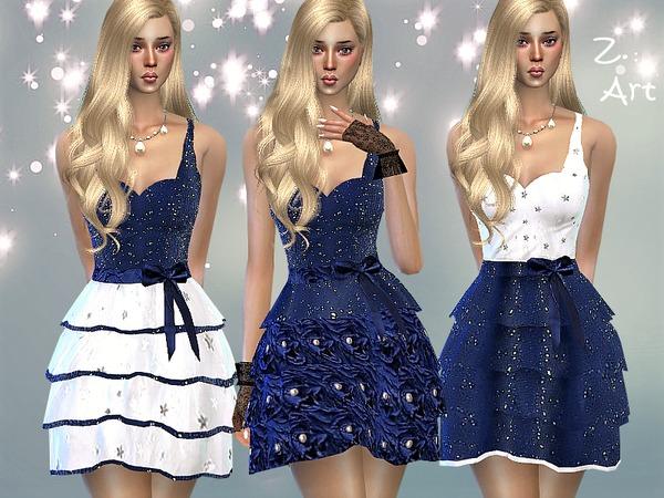 Sims 4 Starry Sky dress by Zuckerschnute20 at TSR