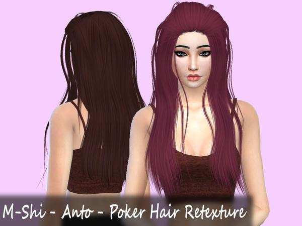 Sims 4 M Shi Anto Poker Hair Retexture by Mikerashi at TSR