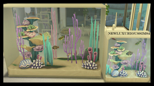 DINEOUT TALL & LONG AQUARIUM functional at NEW Luxurious Sims 4 image 5320 Sims 4 Updates