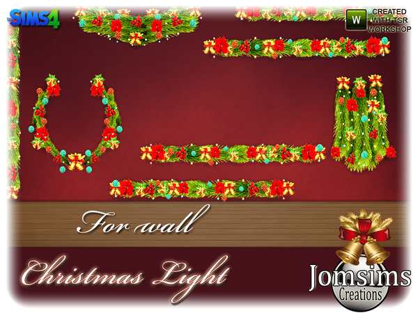 Christmas light set by jomsims at TSR image 5323 Sims 4 Updates