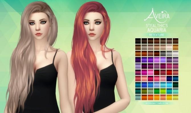 Stealthic's Aquaria Hair Retexture at Aveira Sims 4 image 536 670x396 Sims 4 Updates
