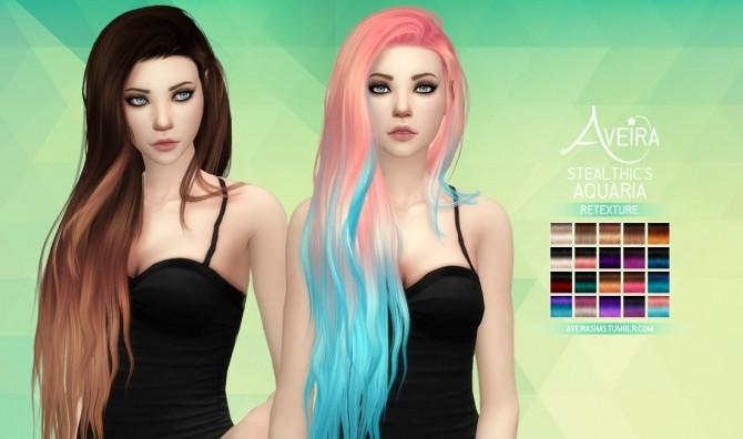 Stealthic's Aquaria Hair Retexture at Aveira Sims 4 image 537 670x396 Sims 4 Updates