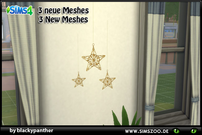 Sims 4 Hanging star 3 sizes by blackypanther at Blacky's Sims Zoo