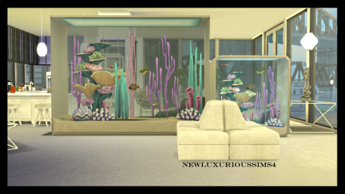 DINEOUT TALL & LONG AQUARIUM functional at NEW Luxurious Sims 4 image 5421 Sims 4 Updates
