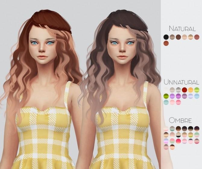 Sims 4 Mega Hair Pack at Kalewa a